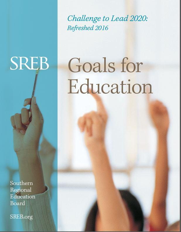 Cover of the SREB Goals for Education report.